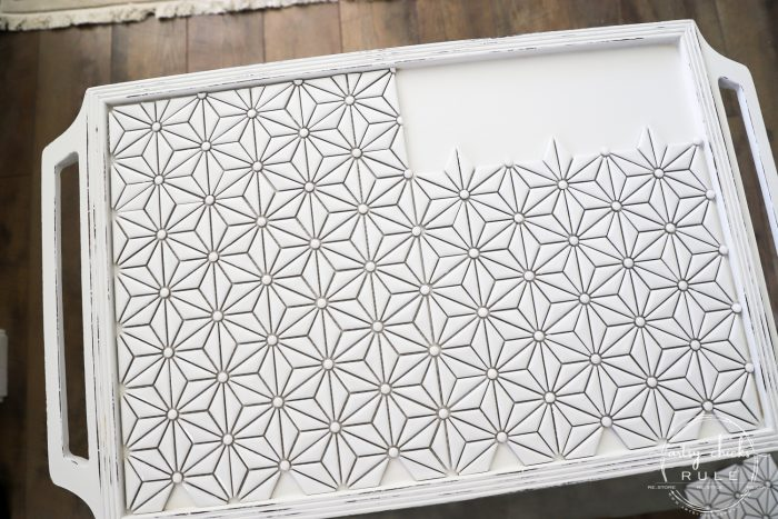 How To Tile A Table Top! DIY tiled table top is easier than you think! And gives a completely new look to your furniture! artsychicksrule.com #diytiledtable #diytile #DIYtileprojects