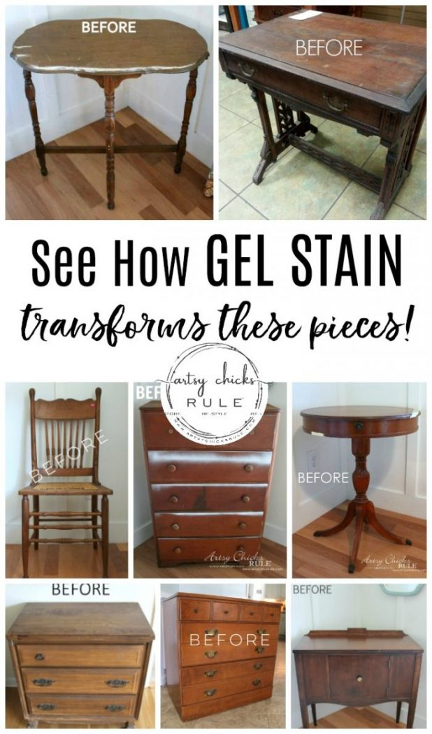 Top Ten Posts WRITTEN in 2019! Lots of home improvement, DIY, tutorials and more! artsychicksrule.com #topten #homeimprovement #diy #diytutorials #howtogelstain