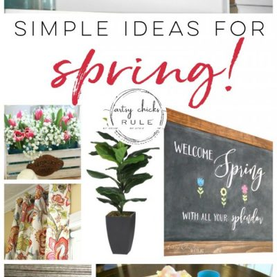 Spring Decorating Ideas (that brighten up your space!!)