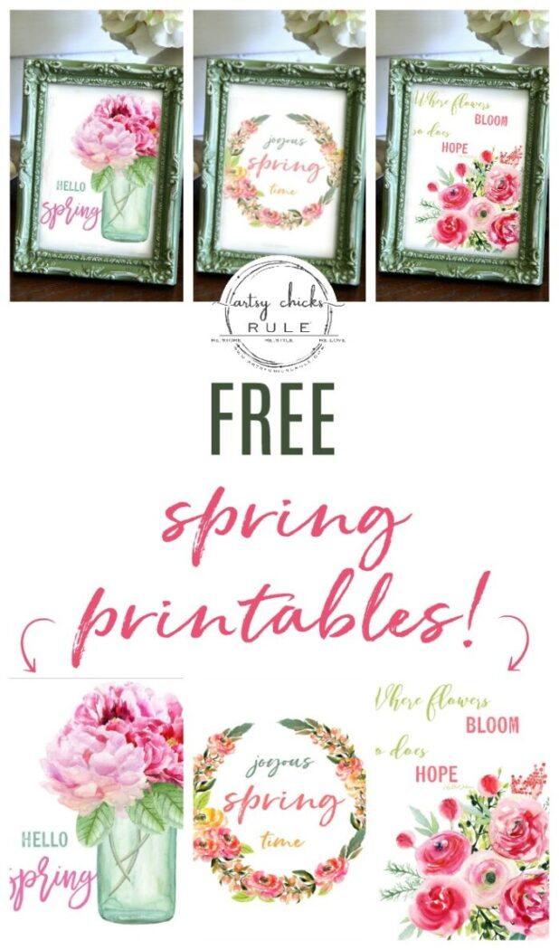 Free spring printables with colorful flowers and spring quotes artsychicksrule.com floral printables for spring