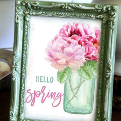 Floral Printables For Spring (free download!)