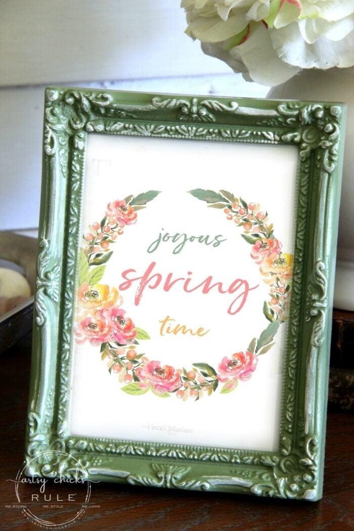 Joyous spring time colorful flower wreath artsychicksrule.com floral printables for spring