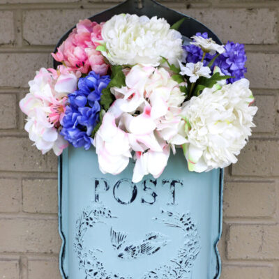 Antique Mailbox Flower Arrangement