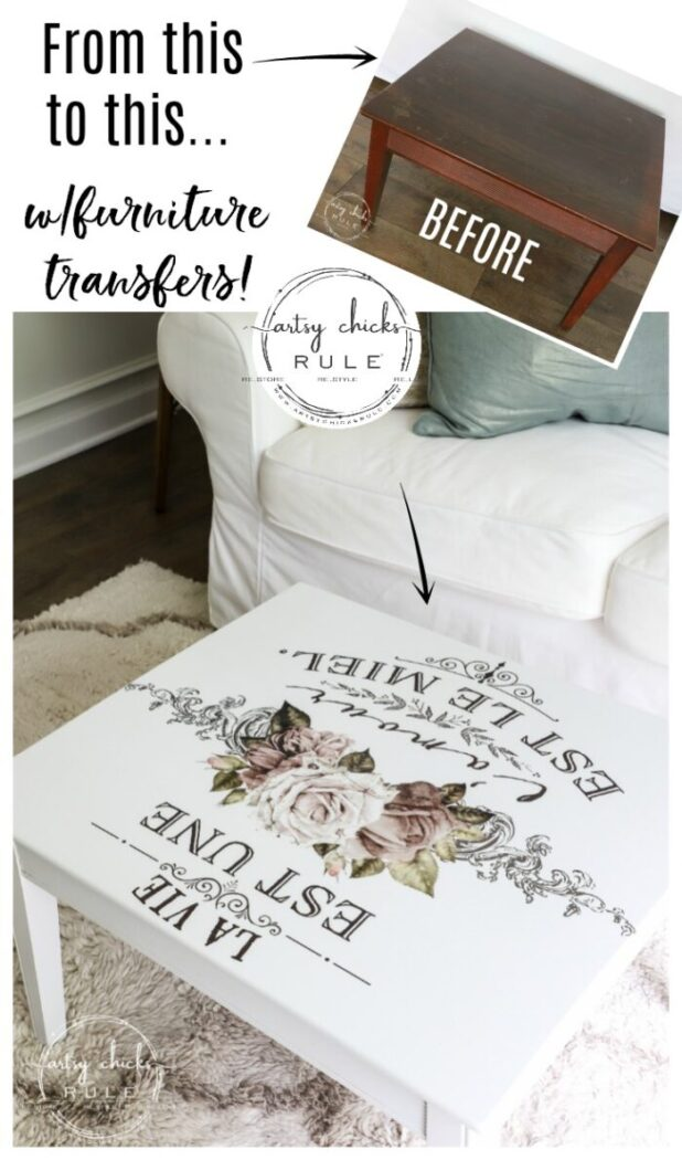 Give your furniture a fun new look with Prima transfers!! They are so easy to apply and look amazing! Come see how!