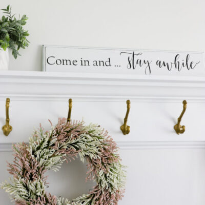 Repurposed Drawer Front Sign (and free printable!)