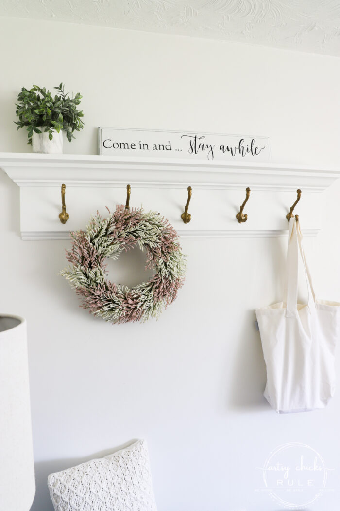 Come in and Stay Awhile Sign and coat rack styled artsychicksrule.com