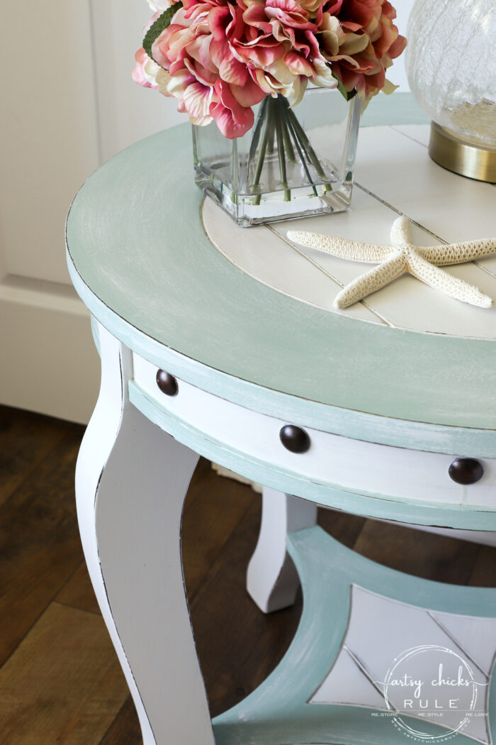 Nautical end table distressed artsychicksrule.com
