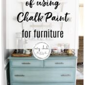 Pros and Cons of Chalk Paint For Furniture (and some of my favorite makeovers!)