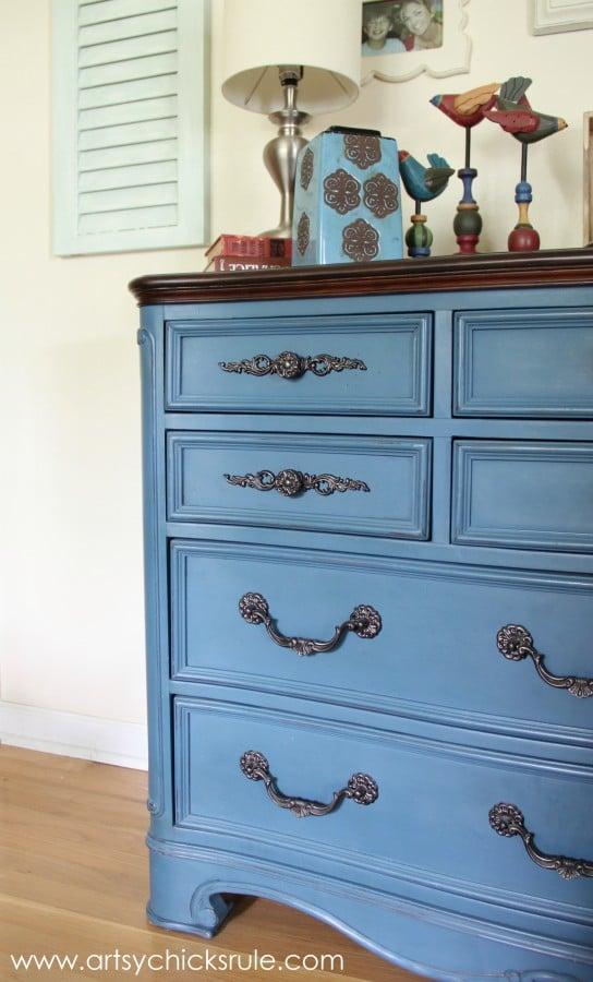 Aubusson Blue Chalk Painted Dresser artsychicksrule.com