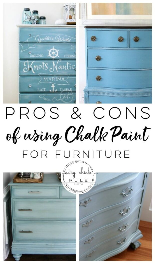 PROS and CONS of Chalk Paint for Furniture! Find out all the details!! artsychicksrule.com #chalkpaintfurniture #chalkpaintmakeovers #howtousechalkpaint #howtopaintfurniture