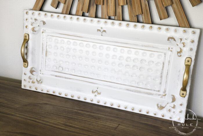 White and Gold tray artsychicksrule.com