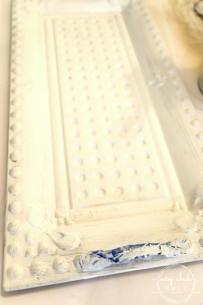 White Painted Tray artsychicksrule.com