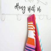 Hang With Me Sign Hook Rack