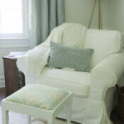 Vintage Footstool Makeover (old seat repurposed!)