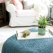 Simple Thrift Store Tray Makeover With Tile