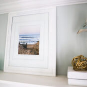$6 Beach Scene Wall Art (thrifty makeover!)