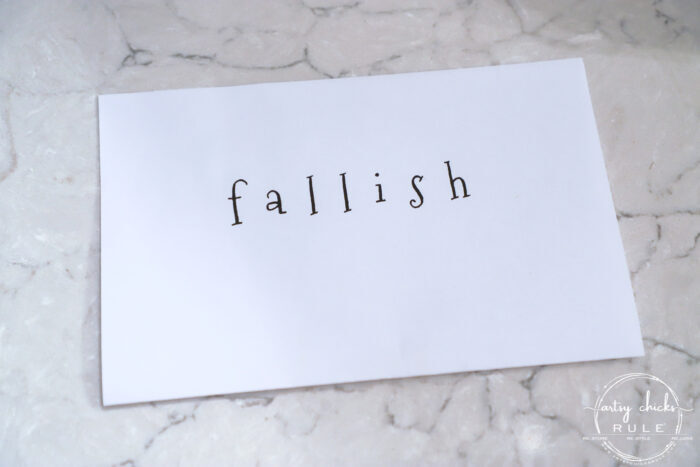 """Fallish"" Lettered Mini Pumpkins are the cutest addition to any fall decor! Simple to make, fun to display! artsychicksrule.com #fallish #fallpumpkins #minipumpkins #pumpkinideas #pumpkincrafts"