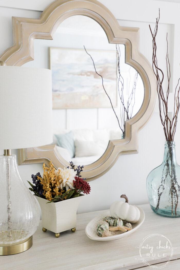 Floral Arrangements For Fall - Thrift Store Makeover!! Budget-Friendly Fall Decor artsychicksrule.com #falldecor #fallcrafts #fallhome #fallflorals #fallmakeover