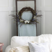 Purple & White Pumpkin Wreath