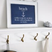 Metal Beach Sign ($3 thrift store makeover!)