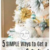 Create A Snow Covered Christmas Tree (5 tips & ideas)