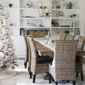 White Christmas Decor Ideas (dining room & foyer)