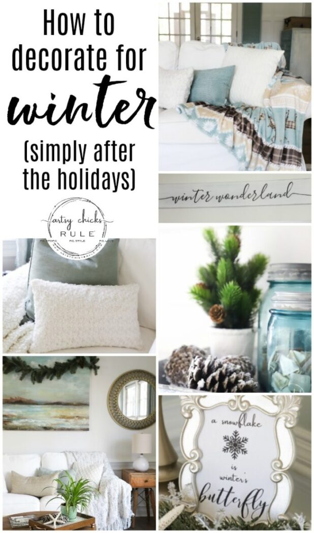 How To Transition From Christmas To Winter Decor Tips And Ideas Artsy Chicks Rule