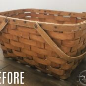 Basket Makeover For Spring (with water based stain)