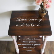 Have Courage And Be Kind Table Makeover (free printable!)