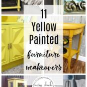 11 Yellow Furniture Makeovers (adding color to your decor!)