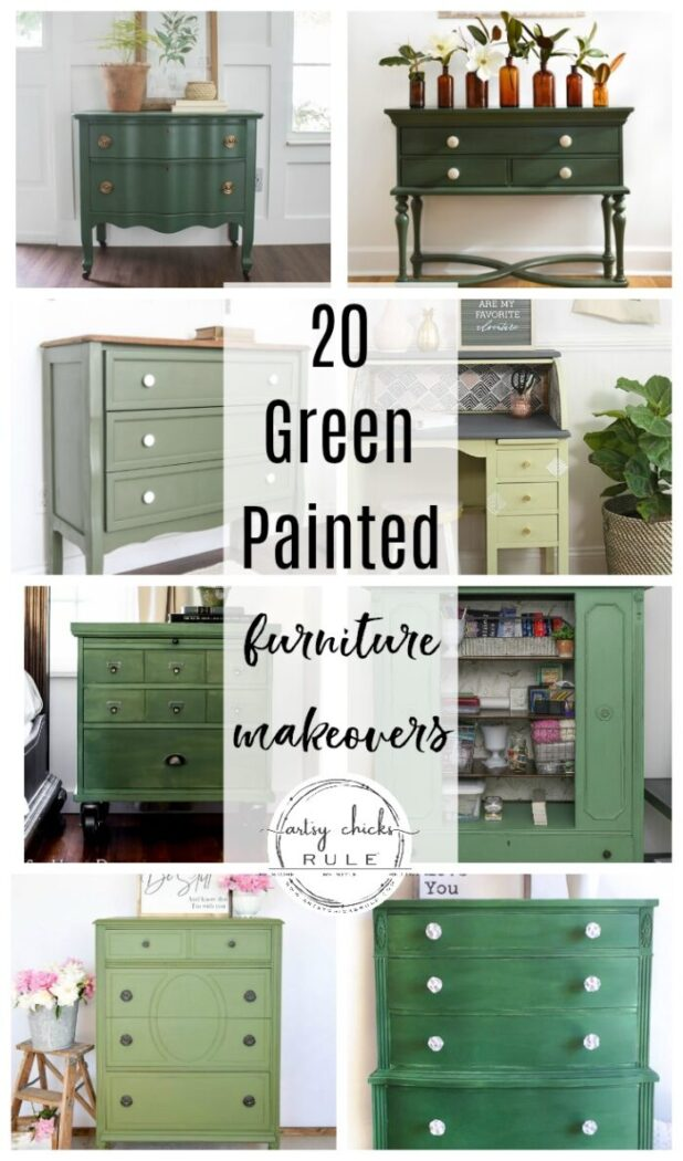 20 Green Painted Furniture Ideas, Is Painted Furniture Going Out Of Style