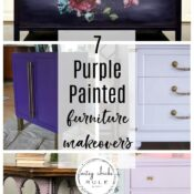 7 Beautiful Purple Furniture Makeovers (from light to dark!)