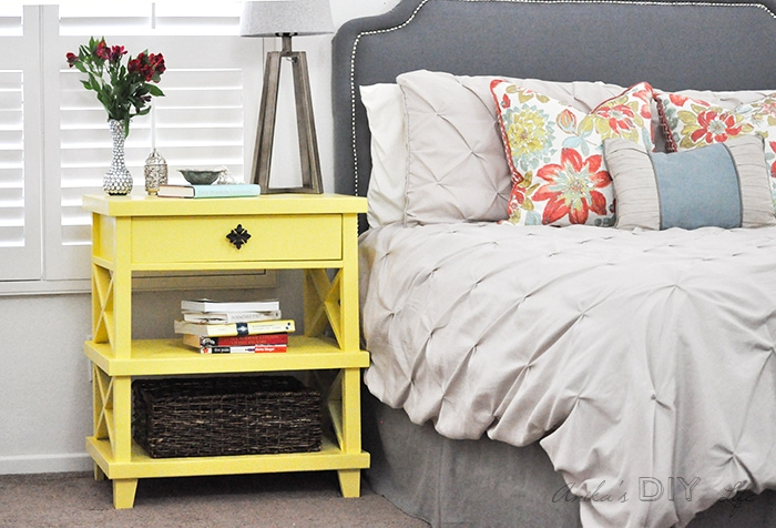 Add a little pop of color, and bring some spring inside, with yellow! Check out these yellow furniture makeovers for beautiful inspiration to get you started. artsychicksrule.com #yellowfurniture #yellowpaintedmakeovers #furnituremakeovers