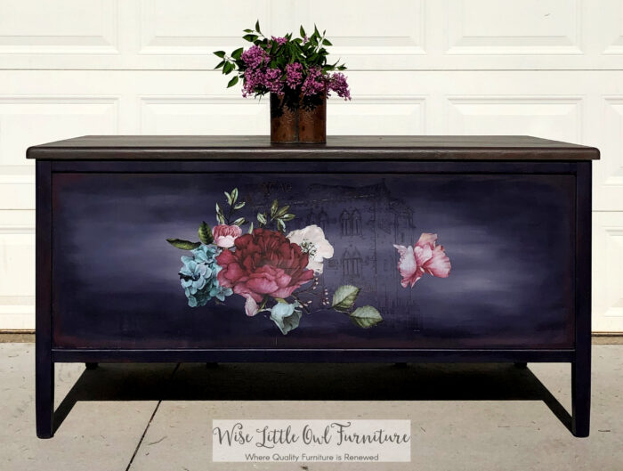 A collection of purple furniture makeovers from the palest to the darkest purple. Lots of ideas for incorporating purple into your home! artsychicksrule.com #purplefurnituremakeovers #purplefurniture
