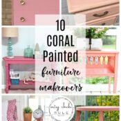 Coral Painted Furniture Makeover & Ideas