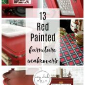 Red Painted Furniture Ideas