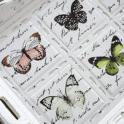 Butterfly Tray Makeover (Thrift Shop Shakedown #6)