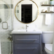 Coastal Bathroom Makeover Reveal (all the details!)