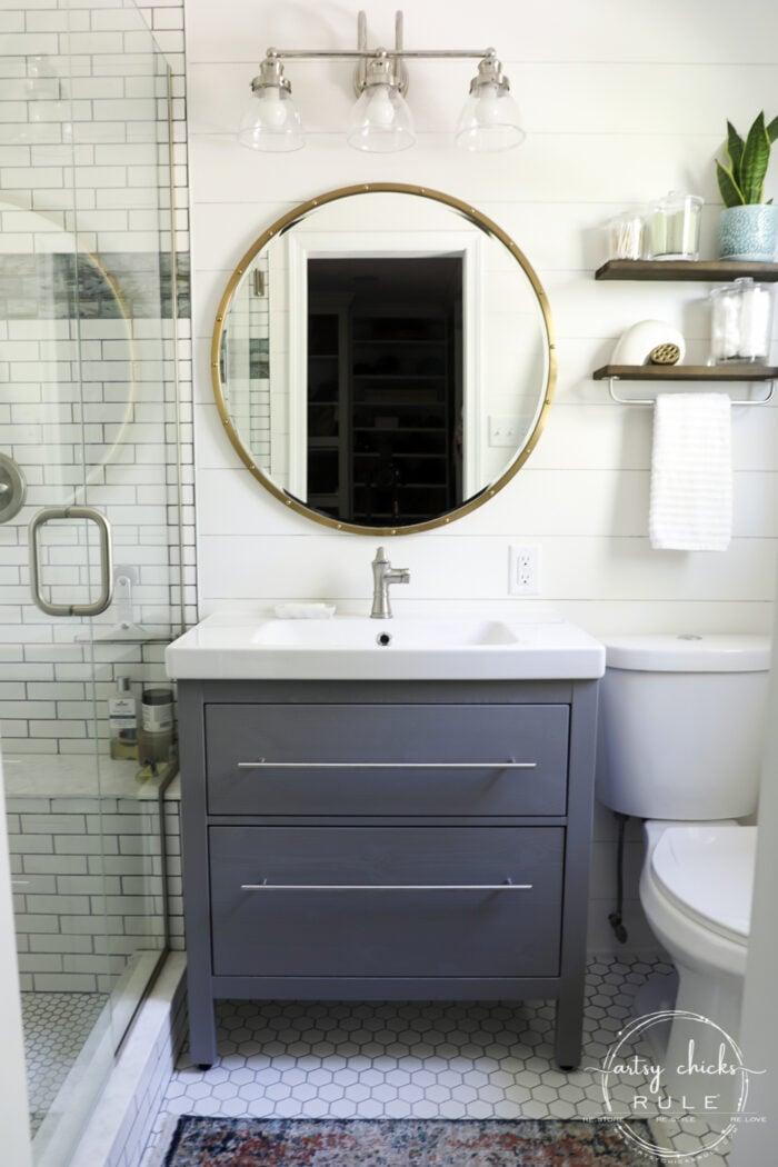 Coastal Bathroom Makeover Reveal All The Details Artsy Chicks Rule