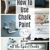 How To Chalk Paint Furniture & More! (tips & tricks I've learned)