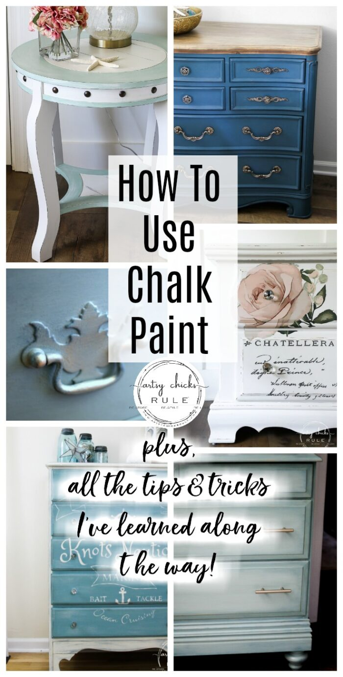 How To Chalk Paint Furniture More Tips Tricks I Ve Learned Artsy Chicks Rule
