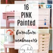Pink Furniture Makeover Ideas (from girly to sophisticated!)