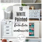 18 Painted White Furniture Makeovers (classic for all time)