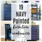19 Navy Painted Furniture Makeovers (ideas and inspiration)