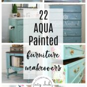 22 Aqua Painted Furniture Makeover Ideas
