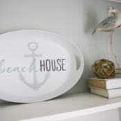 Beach House Platter (thrifty makeover)