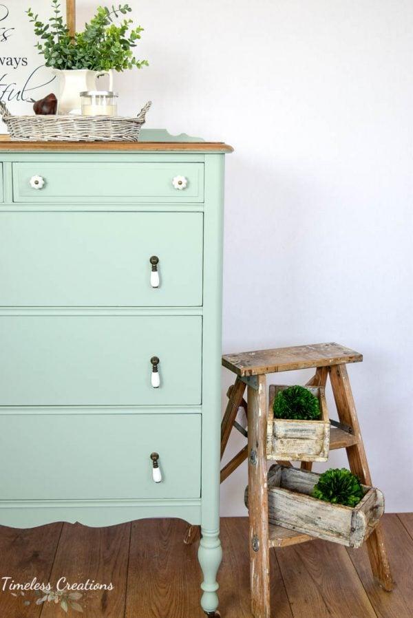Aqua Teal chest of drawers