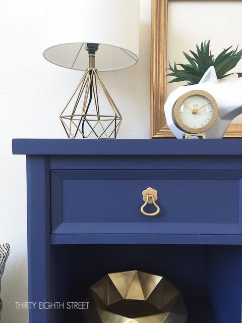 navy blue nightstands