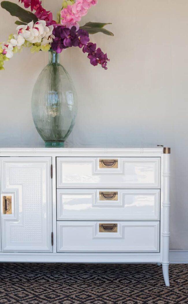 white dresser gold pulls