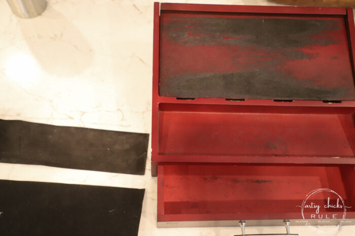 $4 Thrift store find...made over simply with tissue paper and spray paint...men's valet box! Perfect for gift giving! artsychicksrule.com #mensvaletbox #valetboxideas #chargingstation #chargingbox